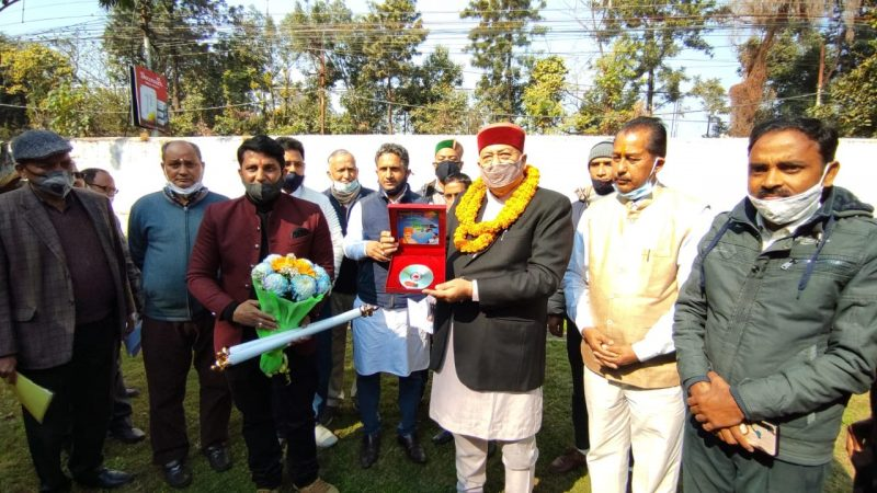 "Tourism Minister Satpal Maharaj Released a CD of ""Panch Kedar Stuti"" Hymns Dedicated To Lord Shiva"